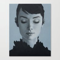 audrey Canvas Prints featuring Audrey by yurishwedoff