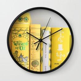 Shelfie in Yellow Wall Clock