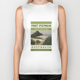 Travel Poster Zenith Beach Art Print Biker Tank