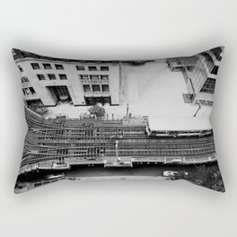 looking down on the tracks ... Rectangular Pillow