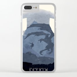Skyrim (II) Clear iPhone Case