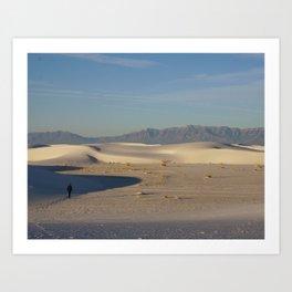 Adam in White Sands, New Mexico Art Print