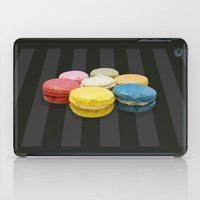macaroon iPad Cases featuring geometric macaroon sweet by artsimo