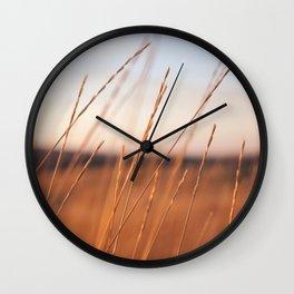 Fall Sunset Photography Print Wall Clock
