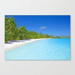 Palm Tree Tropical Island Paradise Canvas Print
