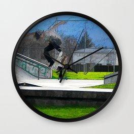 Skateboarding Fool Wall Clock