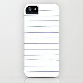 Freehand Stripes White iPhone Case