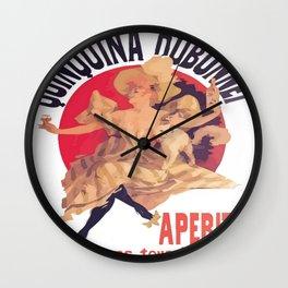 Quinquina Dubonnet Aperitif  Dans Tous Les Cafes Wall Clock