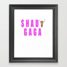 Sip champagne liked Shady Ga Ga Framed Art Print