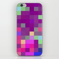 pixel art iPhone & iPod Skins featuring Pixel by FABIAN•SMITH