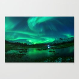 Auroral Storm - Arctic Norway Canvas Print