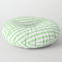 Color of the Year Large Greenery and White Gingham Check Plaid Floor Pillow