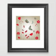 Tatemae Japanese Ochre Framed Art Print