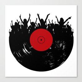 Vinyl record party Canvas Print