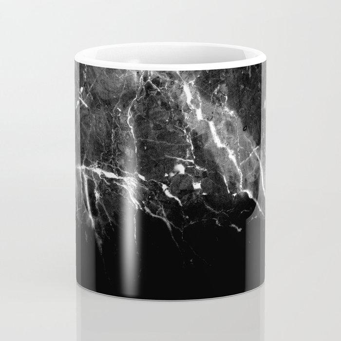 Black Gray Marble #1 #decor #art #society6 Coffee Mug