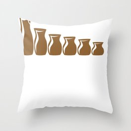 Pottery Wheel Seize the Clay Pottery Sculpting Throw Pillow