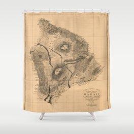 Map of Hawaii, Hawaiian islands (1886) Shower Curtain