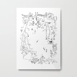 My Funny Animals Metal Print