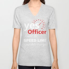 Muscle Car Drivers and Mechanics Yes Officer design Unisex V-Neck