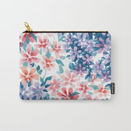 Watercolor Floral Carry-All Pouch