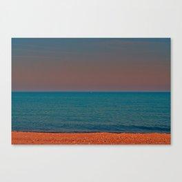 Brick beach Canvas Print