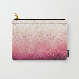Pink Ombre Triangles Carry-All Pouch