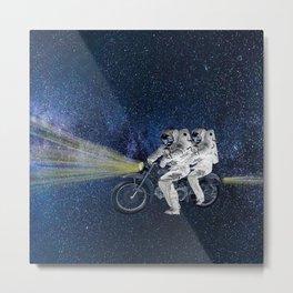 Travel in space Metal Print