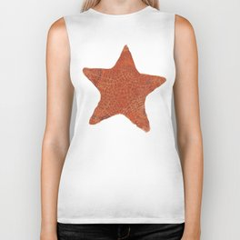 Watercolor Starfish Biker Tank