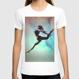 Ballet Dancer Feat Lady Dreams Abstract Art T-shirt