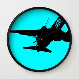 Plane Jane Wall Clock