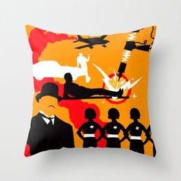 James Bond Golden Era Series :: Goldfinger Throw Pillow