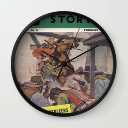 Street & Smith's Western Story - February 1941 Wall Clock
