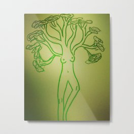 Tree Pose Metal Print