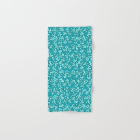 Blue Scribbles Pattern 01 Hand & Bath Towel
