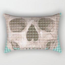 Skull - Light Blue Rectangular Pillow
