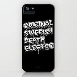 Original Swedish Death Electro #1 iPhone Case