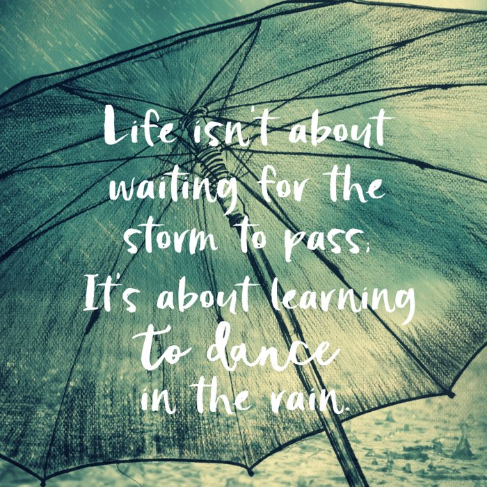 Life Learning To Dance In The Rain Quote Comforters By Quotelifeshop