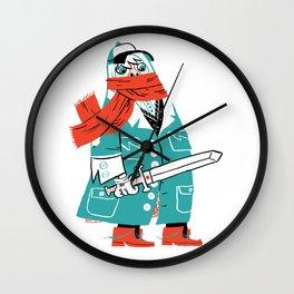 Creepy Scarf Guy Wall Clock