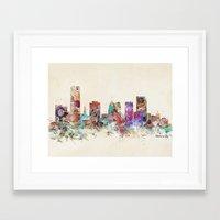 oklahoma Framed Art Prints featuring oklahoma city oklahoma by bri.buckley