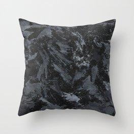 White Ink on Black Background #5 Throw Pillow