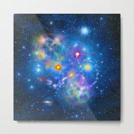 Colorful Pleiades Star Cluster Metal Print
