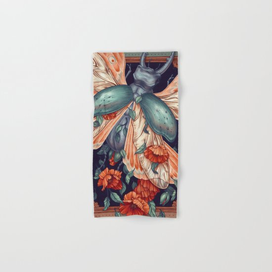 Moth Beetle Hand & Bath Towel