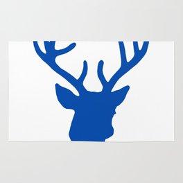 Deer Head: Blue Rug