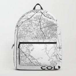 Minimal City Maps - Map Of Columbia, South Carolina, United States Backpack