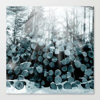 wood Canvas Prints featuring wood  by mark ashkenazi