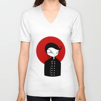 alone V-neck T-shirts featuring Alone by Volkan Dalyan