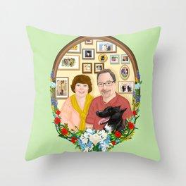 For Mr. and Mrs Schmitt Throw Pillow