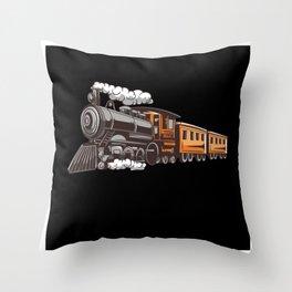 train snoring train dream train express motive Throw Pillow