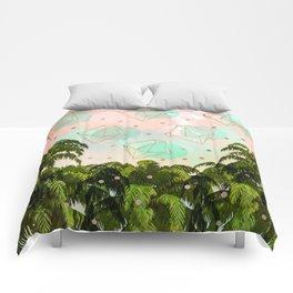 Palms and diamonds Comforters