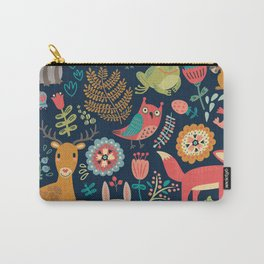 Forest Friends Pattern Carry-All Pouch
